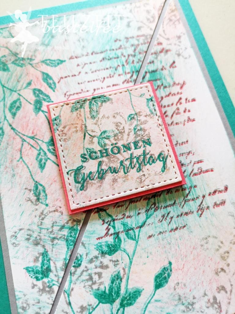 Stampin' Up - Inkspire_me, Sketch Challenge, Color Challenge, Very Versailles, Birthday, Geburtstag, Timeless Textures, Vintage