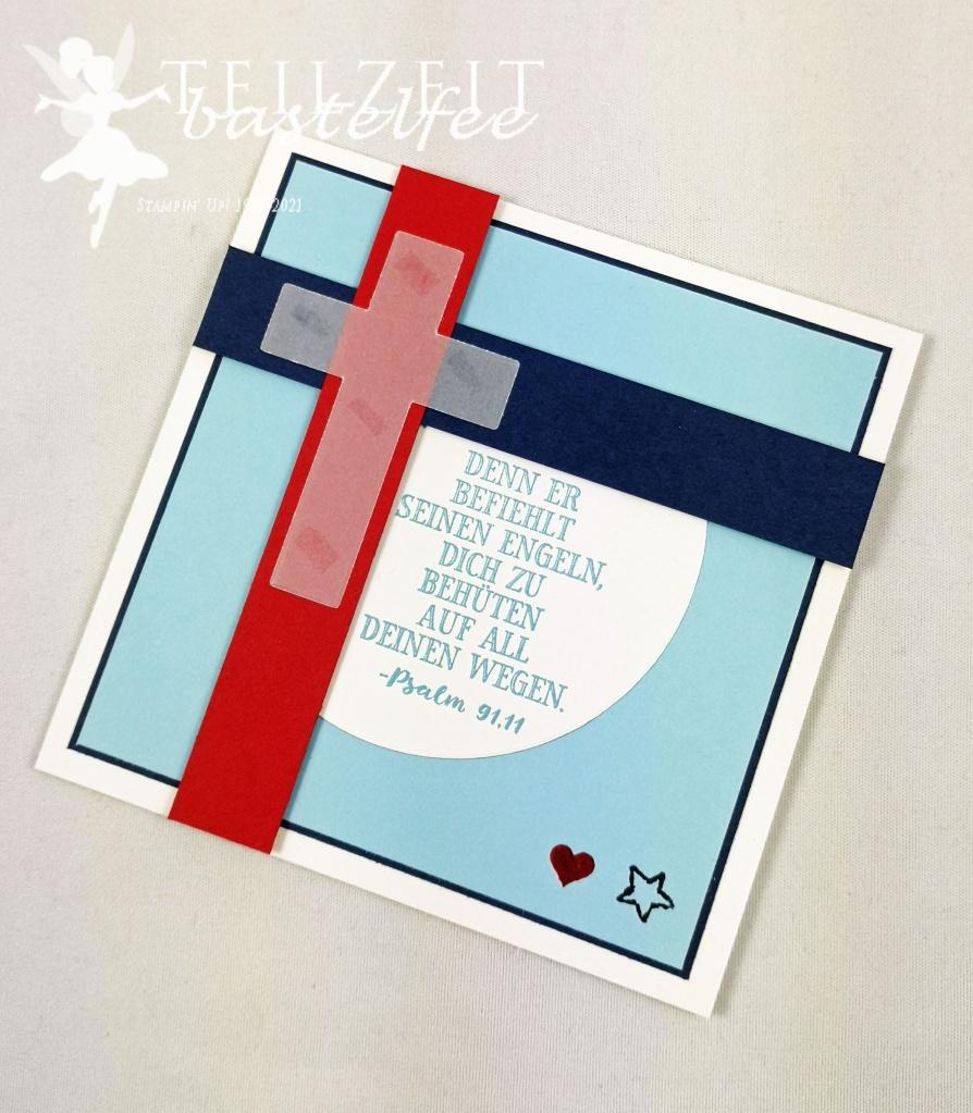 Stampin' UP! - Inkspire_me, Sketch and Color Challenge, baptism, Boy, Zur Taufe, Gesegnet, Hoffe und Glaube