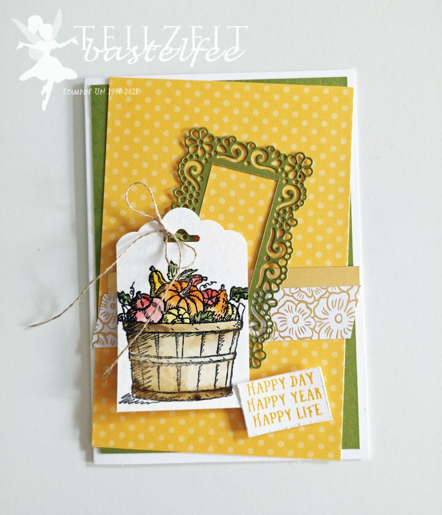Stampin' Up! - Inkspire_me, Special, Herbst, Geburtstag, Fall, Autumn, Birthday Card, Basket of Wishes